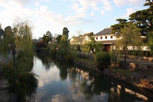 Bikan historic distict of Kurashiki, Okayama.