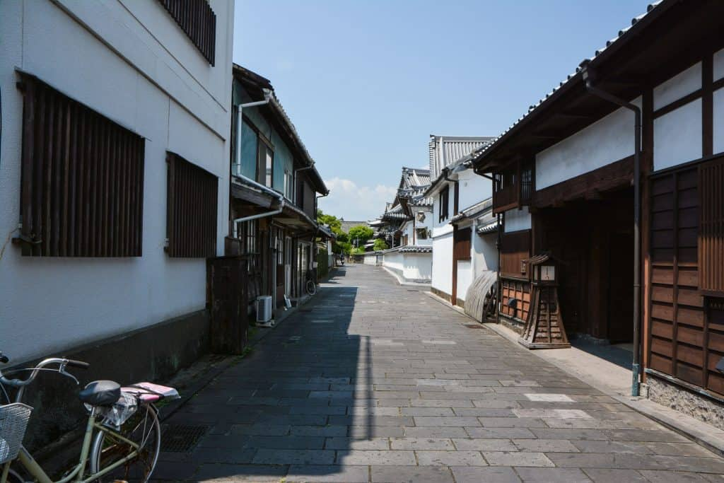 Traditional JApanese Samurai Town and  Historic Neighborhood in Usuki, Oita, Japan