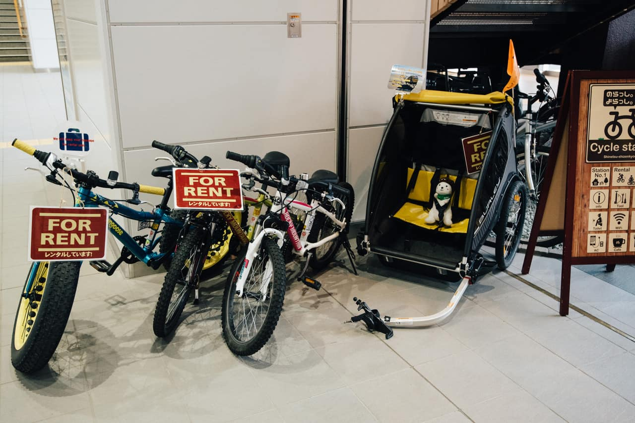 Bicycle for rent at Iiyama station