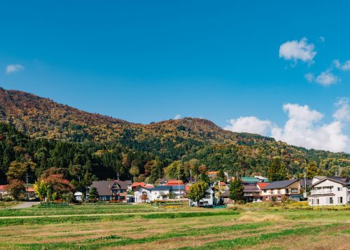 The foothills of Iiyama city are a wonderful place to witness the changing colors of the season.