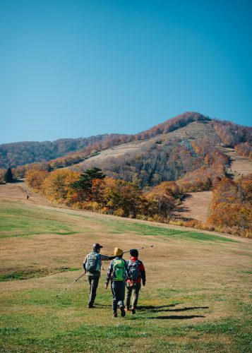 Taking a hike on the Shin-etsu trail in Nagano, Japan.