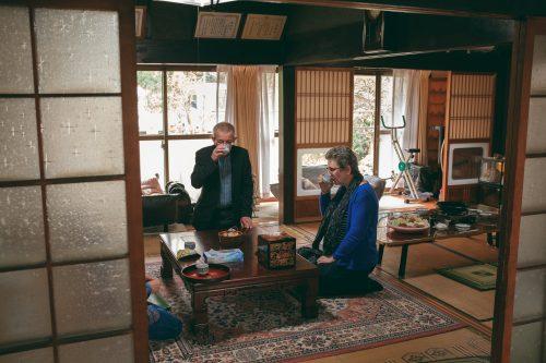 Traditional house of a farmer couple in Ogi, Shiga Prefecture, near Kyoto, Japan