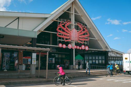 Shin-minato Kitokito Market on Toyama Bay.