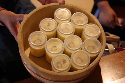 Sample a sweet snack: Happiness Pudding at the Yuurin-An Café.