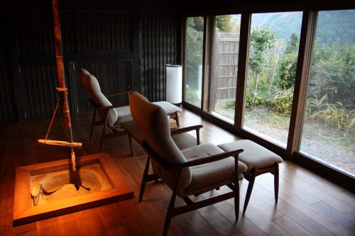 Gorgeous interiors of renovated historic homes at Ochiai hamlet in Tokushima.