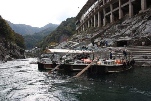 Boat tour of Oboke Gorge in Tokushima, Shikoku.