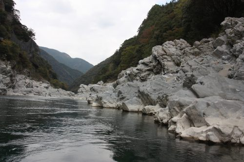 Oboke Gorge on the Yoshino River in Tokushima Prefecture.