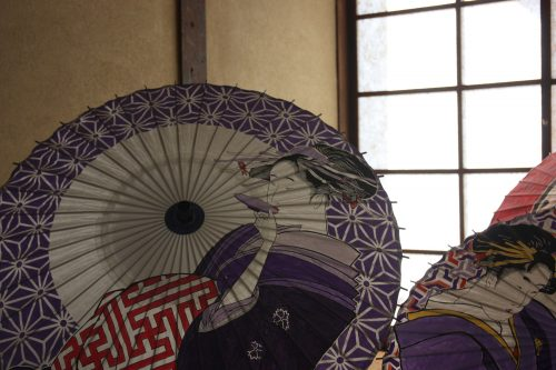 The fine art of Japanese umbrella decorating in Tokushima, Japan.