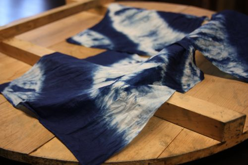 indigo dyed cloth in Mima town, Tokushima.