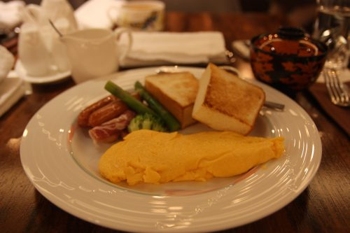 Breakfast at the Royal Park Hotel in Takamatsu, Kagawa Prefecture.