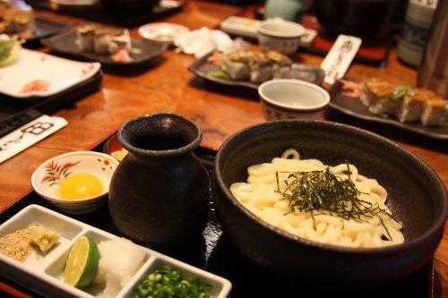 A delicious meal at Yamadaya in Takamatsu, Kagawa.