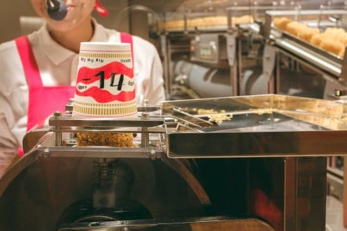 Make your cup noodles pot at the cup noodle museum and its inventor in Osaka, Kinki region, Japan