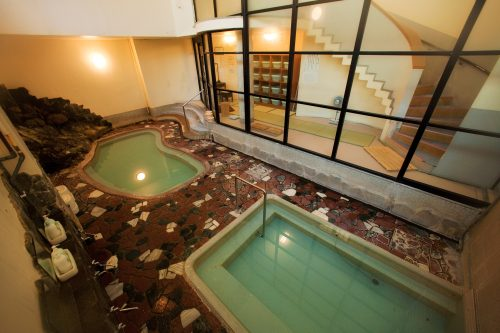 Bath at Osawa Onsen in Hanamaki, Iwate Prefecture, Japan.