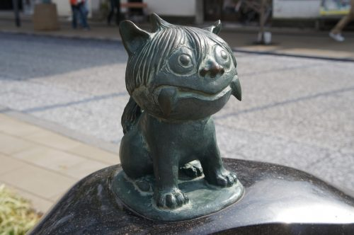 Shisa Statue along the Mizuki Shigeru Road in Sakaiminato, San'in Region, Tottori, Japan
