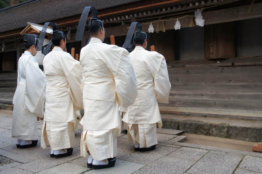Karasade-sai ritual in Izumo taisha, the great Izumo shrine, San'in region, Shimane prefecture, Japan