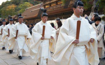 Karasade-sai ritual in Izumo-taisha, the great Izumo shrine, San'in region, Shimane prefecture, Japan