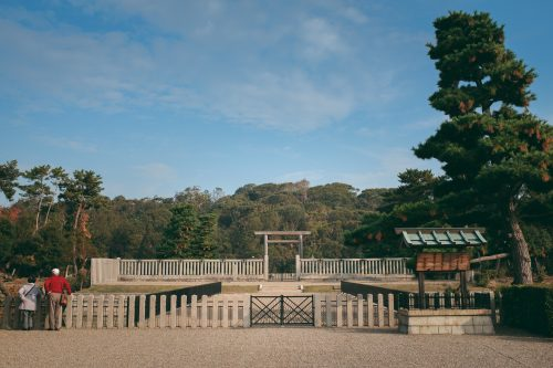Nintokuryo, Japan's largest kofun, in Sakai, Osaka, Kinki, Japan