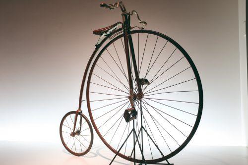 Old Models on display at Sakai Bicycle Museum, Osaka, Kinki Region, Japan