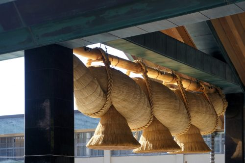 Izumo-Taisha Sacred Rope, Izumo Great Shrine, San'in Area, Shimane Prefecture, Japan