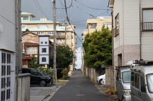 The streets of Kaike Onsen, San'in region, Japan