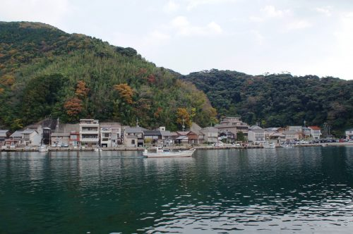 The fishing village of Mihonoseki, Shimane prefecture, San'in region, Japan