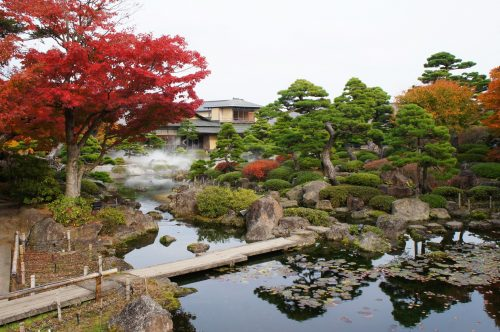 Yuushien Japanese Garden, not far from Adachi Museum of Art, Yasugi, Shimane Prefecture, San'in Region, Japan
