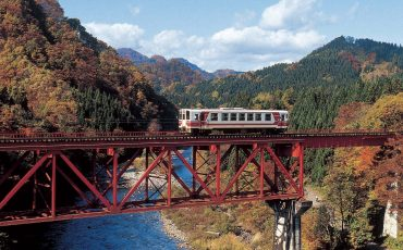 Akita railway, tohoku, Japan.