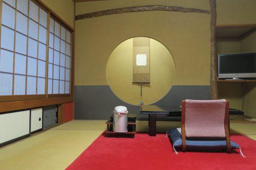 Circle Room at Ryokan Masagokan in Kakegawa, Shizuoka.