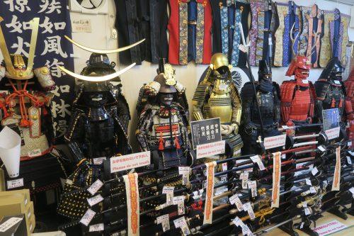 Armor on display at Kakegawa Castle, Shizuoka