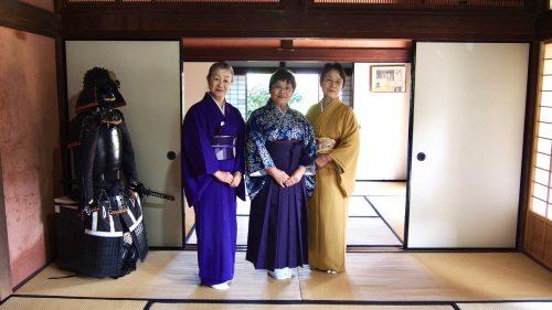 Women beautifully dressed in kimono in Izumi, Kagoshima.