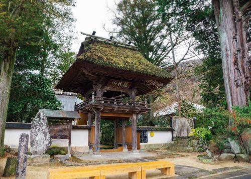 An ancient temple gate in Yufu City, Oita.