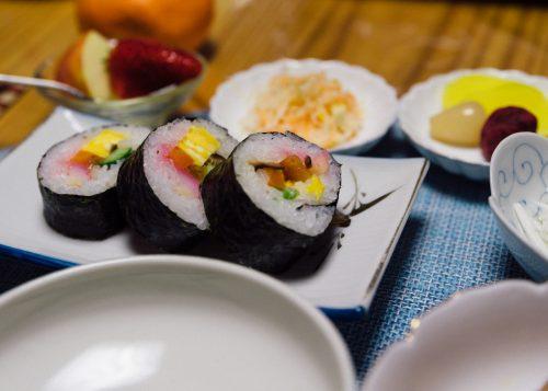 Home made cuisine at Nishinokubo in Oita Prefecture.
