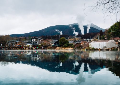 Kinrin Lake in Yufuin, Yufu City, Kyushu.