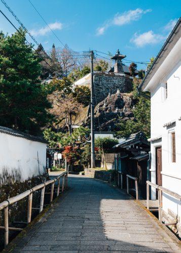 Edo era streets of Taketa city, Oita Prefecture, Kyushu