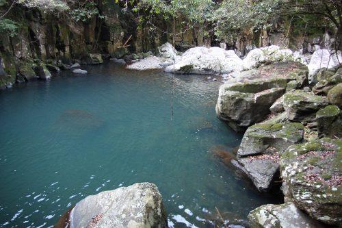 Hidden waterfalls in Higashisonogi, Nagasaki, Kyushu, Japan.