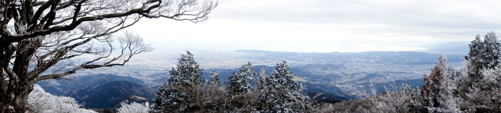 Panoramic view from Mt. Oyama