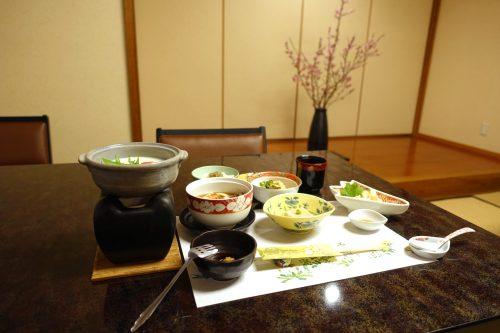 Mt. Oyama vegetarian meal made with tofu.