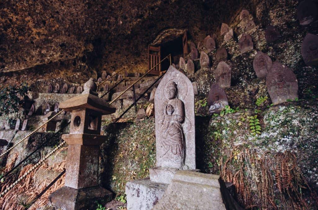 Buddhist stone statue in Japan