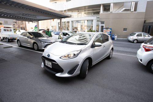 Rent a car at Oita Station in Oita, Kyushu, Japan.