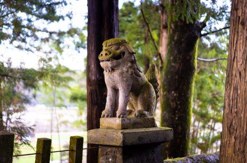 Ninomiya Hachiman Shrine in Bungoono, Oita, Kyushu, Japan.