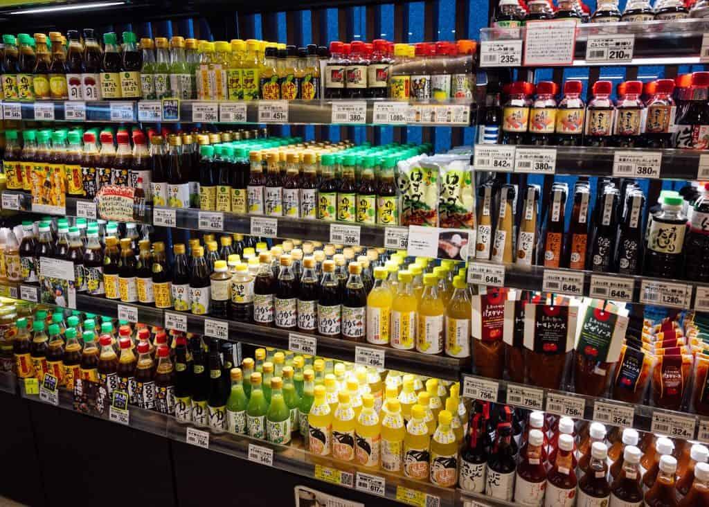 Many yuzu flavored items at Kochi antenna shop
