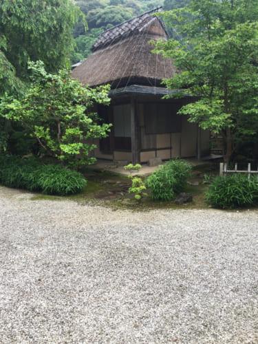 Old tea house in Kyushintei garden