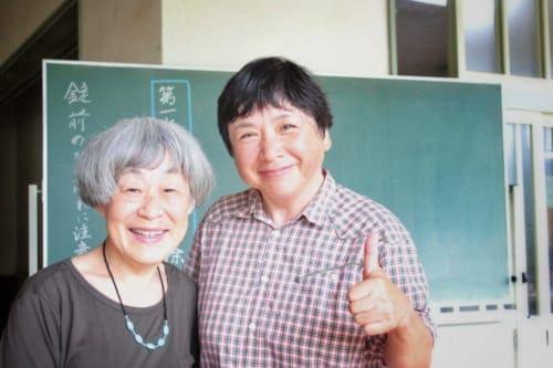 Master potters of Akatsuchi Pottery Experience on Ojika Island.