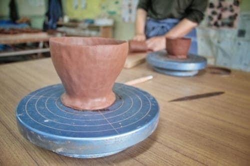 Make you own pottery at Akatsuchi Pottery Experience on Ojika Island.