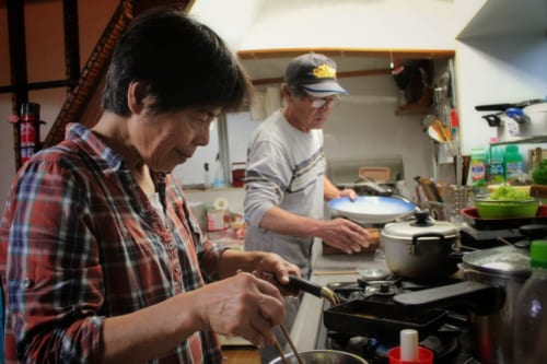 Cooking with a homestay family on Ojika Island