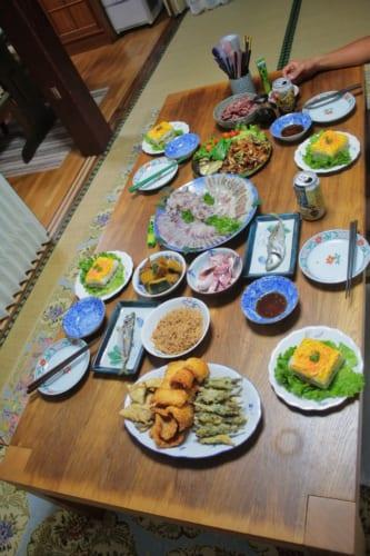 Meal at a homestay on Ojika Island