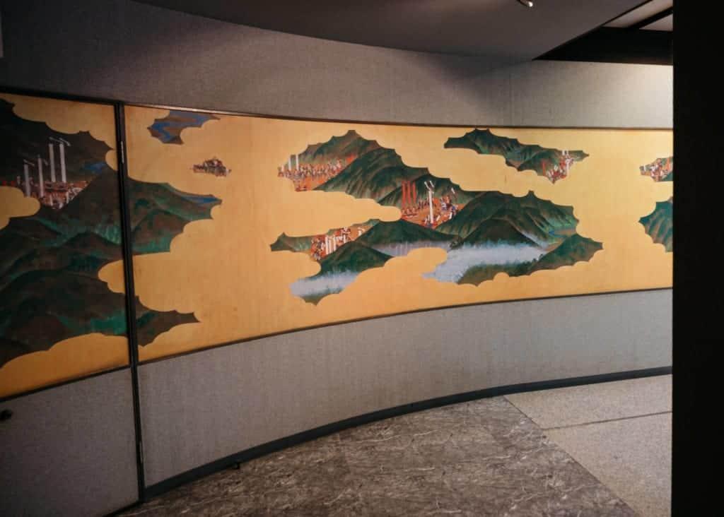 A fresco at Okayama castle