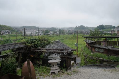 View over the village of Asuka from the entrance of Tomaryanse