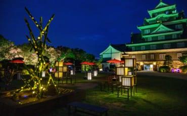 Okayama Castle Summer illumination