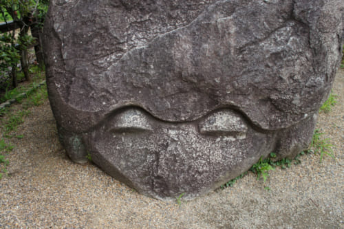 Kameishi: Asuka's most famous megalith, carved in the shape of a turtle and whose origin remains mysterious